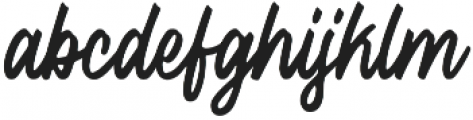 Histeria otf (400) Font LOWERCASE