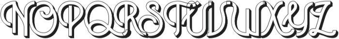 Historica Extrude otf (400) Font UPPERCASE