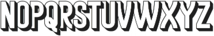 Historica Extrude otf (400) Font LOWERCASE