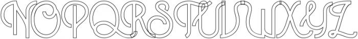 Historica Outline otf (400) Font UPPERCASE
