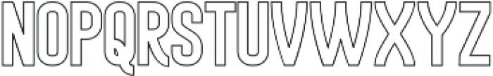 Historica Outline otf (400) Font LOWERCASE