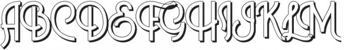 Historica Shadow otf (400) Font UPPERCASE