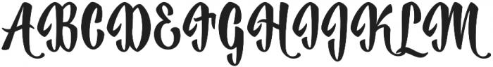 Historise Regular otf (400) Font UPPERCASE