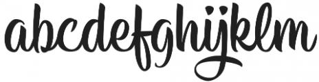 Hisyam Script otf (400) Font LOWERCASE
