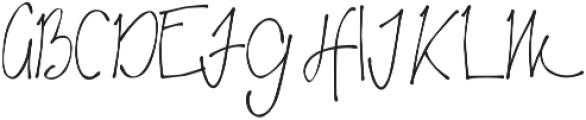 Hitherto ttf (400) Font UPPERCASE