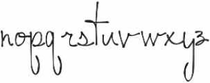 Hitherto ttf (400) Font LOWERCASE