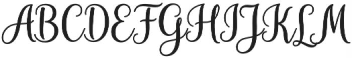 Hiyida Script Regular otf (400) Font UPPERCASE