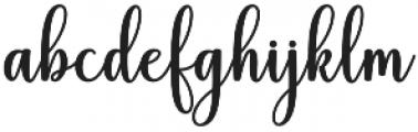 Hiyida Script Regular otf (400) Font LOWERCASE