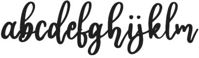 hilda otf (400) Font LOWERCASE