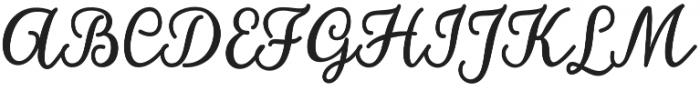 hillania font Regular otf (400) Font UPPERCASE