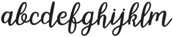 hillania font Regular otf (400) Font LOWERCASE