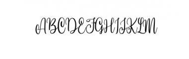 Hi Virginia.ttf Font UPPERCASE