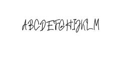 Hiroshima - Elegant Handwritten Font Font UPPERCASE