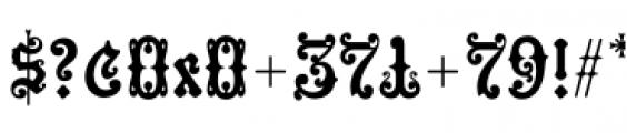 Hills Medieval Font OTHER CHARS