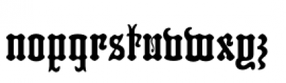 Hills Medieval Font LOWERCASE