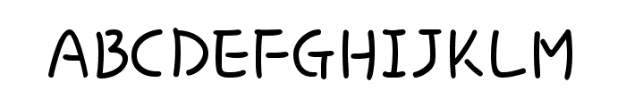 Hi Melody Regular Font UPPERCASE