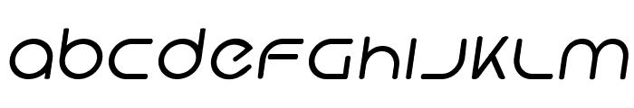 Hi. Regular Oblique Font LOWERCASE