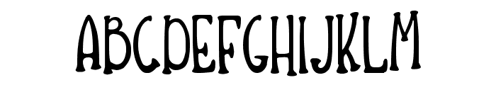 Hiccups Font UPPERCASE