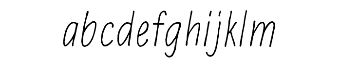 Hidden meanings Italic Font LOWERCASE