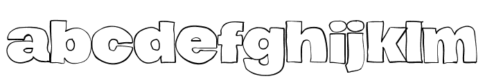 Hierograf Outline PERSONAL USE Font LOWERCASE