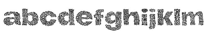 Hierograf Pattern PERSONAL USE Font LOWERCASE