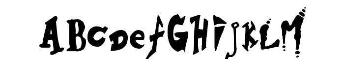 Hieronymous Boschian Font UPPERCASE