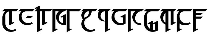 High Drowic Bold Font UPPERCASE