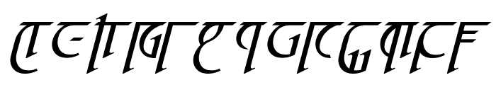 High Drowic Italic Font UPPERCASE