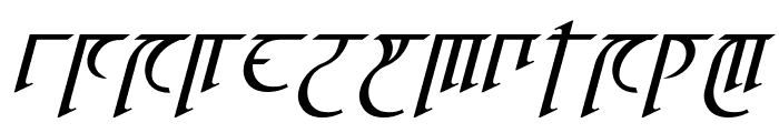 High Drowic Italic Font LOWERCASE