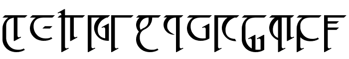 High Drowic Font UPPERCASE
