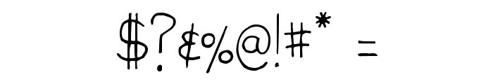 High Fiber Font OTHER CHARS