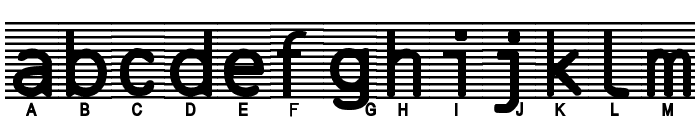 High-Security-Font Font LOWERCASE