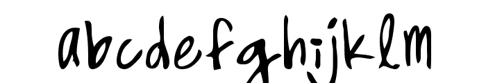 High Strung Font LOWERCASE