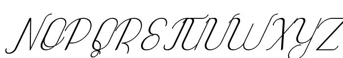 Highway Italic Font UPPERCASE