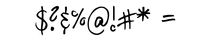 Hilde Sharpie Font OTHER CHARS