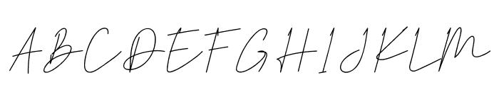 Hiliana Font UPPERCASE