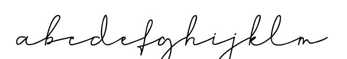 Hiliana Font LOWERCASE