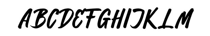 Hillend Font UPPERCASE