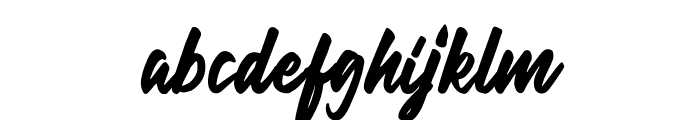 Hillend Font LOWERCASE