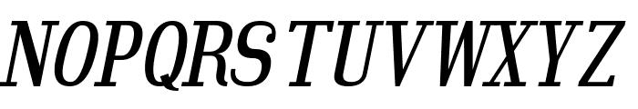 Hindsight Italic Font UPPERCASE