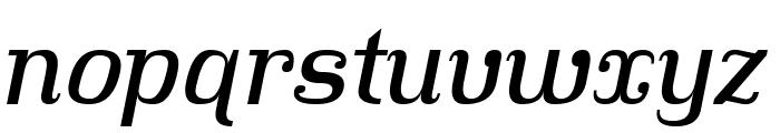 Hindsight Italic Font LOWERCASE