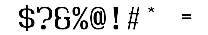 Hindsight Monospace Regular Font OTHER CHARS