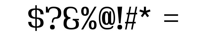 Hindsight Regular Font OTHER CHARS