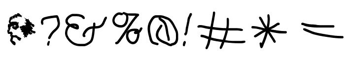 Hingehudelt-Bold Font OTHER CHARS