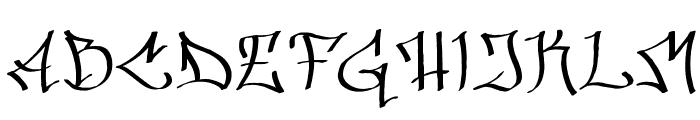Hinterwelt Font UPPERCASE