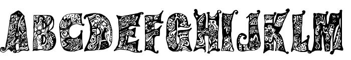 Hippie Gypsy Regular Font UPPERCASE