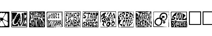 Hippy Stamp Font LOWERCASE