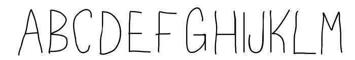 HipstaPlease Font UPPERCASE