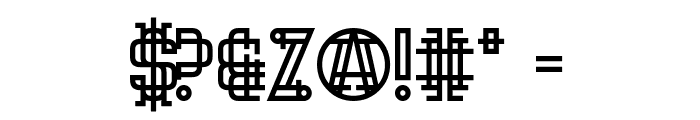 Hipster Hand Grenade Font OTHER CHARS