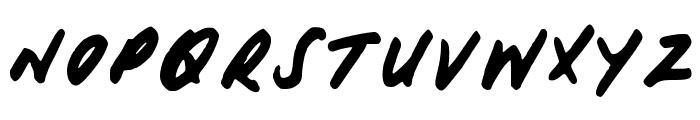 HisHand Font UPPERCASE